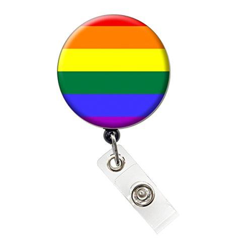 Gay Pride/Rainbow Nurse Badge Reel Retractable ID Badge Holder