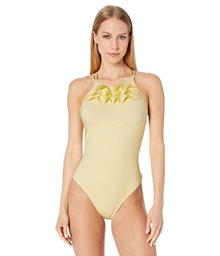 SHAN Verona One-Piece Swimsuit - High Neck Limoncello 8