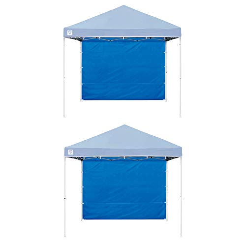Z Shade 10ft Blue Everest Instant Canopy Tent Taffeta Sidewall Accessory(2 Pack)