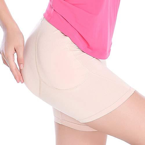Gel De Silice Rembourré Hip Butt Enhancer Tummy Control Ceinture De Cincher Lowrise À Midrise Style, Épaississement De Quatre Pièces (Beige, S-XXL),L