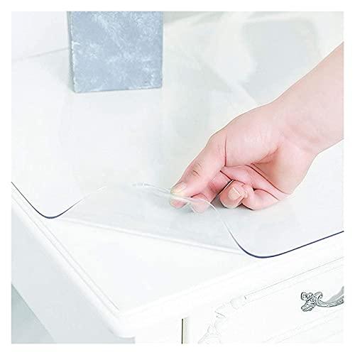 AWSAD 1,5 mm / 2 mm de Espesor Cubierta de Mesa Transparente Mantel de Plástico Rectangular Anti-Quemaduras Cojín de Mesa Transparente 16 Tamaños (Color : 1.5m, Size : 40X60cm)