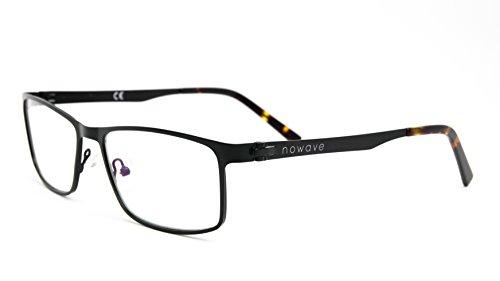 NOWAVE Occhiali neutri per PC, Tablet, TV e Gaming   Eliminano occhi rossi e mal di testa da PC   Occhiali riposanti ANTI LUCE BLU   Spektrum