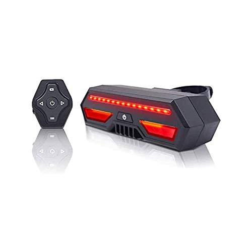 ELXSZJ XTZJ - Luz LED recargable para bicicleta con control remoto, luces de giro, alerta de carril de tierra, impermeable, fácil instalación para ciclismo de seguridad