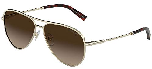 Tiffany Gafas de Sol DIAMOND POINT TF 3062 PALE GOLD/BROWN SHADED 57/13/140 mujer
