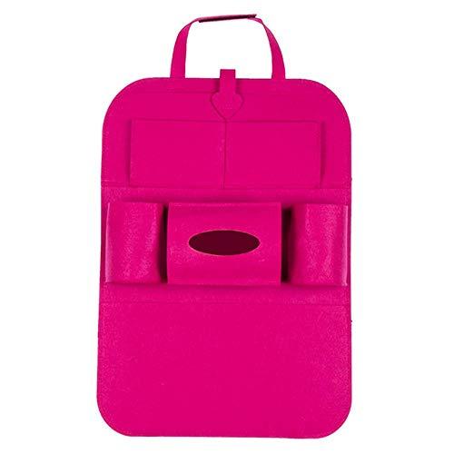 ZHAOPAI Auto stoel rugbescherming apparaat - compartiment multi-pocket paraplu tas opbergtas 40 * 50cm Rood