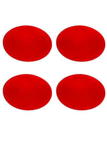 Kit 4 Almofadas Silicone Para Fogão de indução (Vermelho)