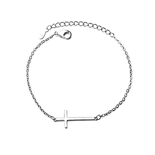 Pulsera de cadena de plata S925 para mujer y hombre, joyería de Navidad de cumpleaños