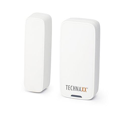 Technaxx Tür-Fenster-Kontakt TX-86 (zum Kit TX-84), Sensor-Alarmauslösung Öffnung, 2,5 cm weiß