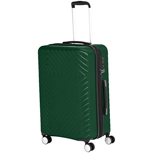Amazon Basics Maleta, diseño geométrico, 68cm, Verde