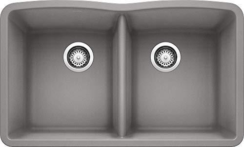 BLANCO 440183 Diamond Silgranit 50/50 Double Bowl Undermount Kitchen...