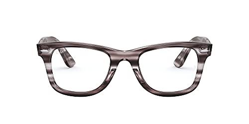 Ray-Ban Wayfarer Ease Gafas, Striped Grey Havana, 50 Unisex