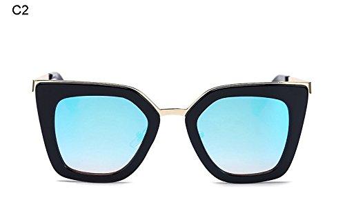 Burenqi@ Moda Mujer Gafas de Sol de Marca Gafas de Sol Vintage clásico Diseñador único Puente Gafas de Sol,UN