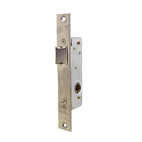 Tesa Assa Abloy, 221528AI, Cerradura Monopunto para perfiles metálicos, Entrada 20mm, Acero Inoxidable