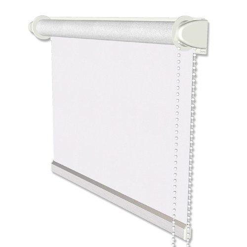 INTERDECO Verdunkelungsrollos/Thermo-Rollo Weiß BxH 60 x 175 cm ohne Bohren (Klemmfix-Rollo), Seitenzugrollo mit Silberbeschichtung