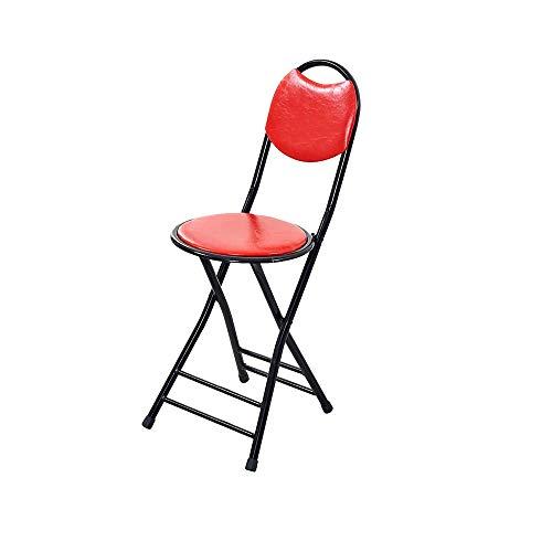 YANGYUAN Taburete portátil, Plegable Acolchado de Vuelta a casa Silla for Adultos Silla de Comedor sillas Plegables de Madera de Interior (2 Colores Opcionales) (Color : Red)