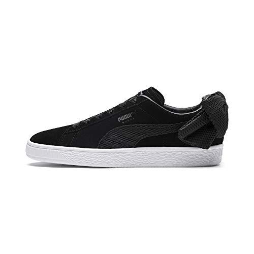 Puma Damen Suede Bow Sneaker, Schwarz Black White 01, 38.5 EU