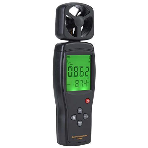 Medidor De Velocidad De Flujo De Aire, Termómetro De Viento Apagado Automático/Manual Función 2 En 1 Medidor De Viento Digital De Alta Sensibilidad Para El Hogar