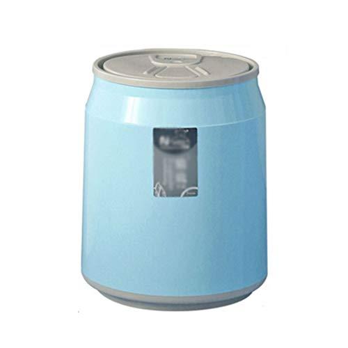 QIFFIY Papelera Ronda de Basura Bote de Basura Bote de Basura Papelera de Reciclaje de plástico Caja de Papelera de Oficina Minimalista Dormitorio Cesta de Papel Cubo de Basura