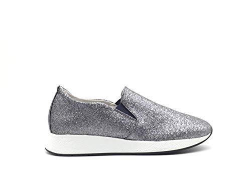 Frau - Sneakers Glitter MOD.43J3 Colore Canna Fucile (35EU)