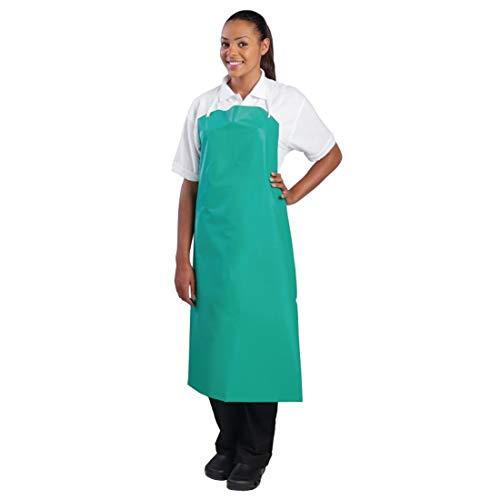 Whites Chefs Apparel A590 PVC nylon schort met schouderband, groen