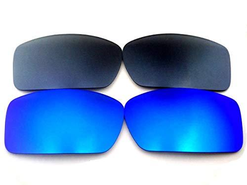 Galaxylense vervangende lenzen voor Oakley Gascan Blue&Gray kleur gepolariseerd 2 paar, GRATIS S&H