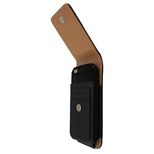 caseroxx Handy Tasche Outdoor Tasche für Cat S31, mit drehbarem Gürtelclip in schwarz