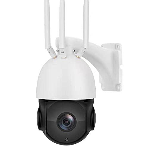 Ptz Cámara de seguridad al aire libre Auto Tracking 5mp Ai Smart Alarm Dome IP Cámara 4g Lte Gsm Cámara CCTV inalámbrica Visión nocturna con ranura para tarjeta SIM, audio bidireccional, memoria 128g