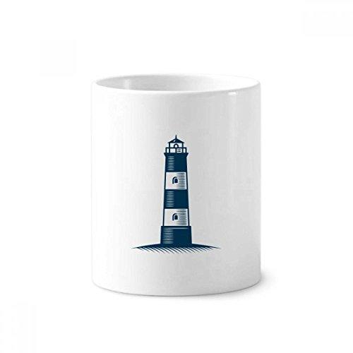 Leuchtturm Navigation Military Ocean Keramik Zahnbürste Stifthalter Becher weiß Tasse 350ml Geschenk