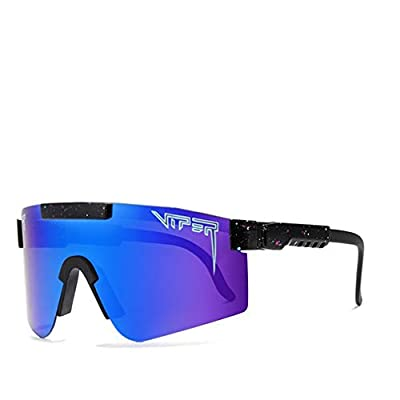 SHEMIQI Original Pit Viper Sport Google Polarized Sunglasses for Men and Women Outdoor Windproof Eyewear Uv Mirrored Lens(C5)