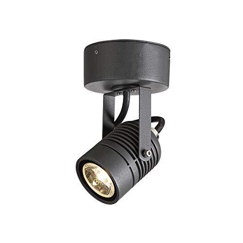SLV Applique murale LED SPOT / Éclairage pour murs, chemins, entrées, spot LED extérieur, lampe de jardin / IP55 3000 K 6 W 400 lm Anthracite