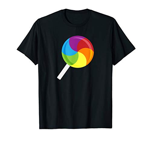 Candyland Lollipop T-Shirt Regenbogen-Kostüm T-Shirt