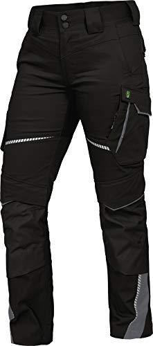 Leib Wächter Flex-Line Damen Arbeitshose Bundhose (schwarz/grau, 38)