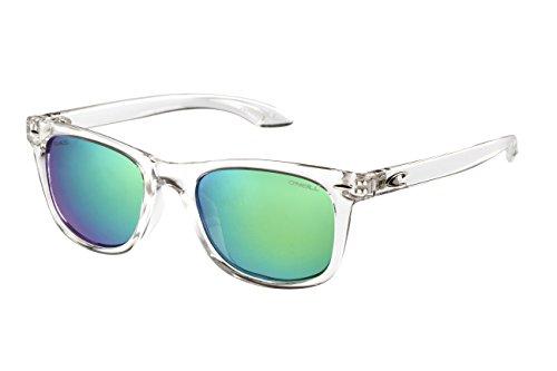 O'Neill Polarized Square Sunglasses, Gloss Crystal Clear, 50 mm