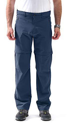 svacuam Men's Outdoor Quick Drying Hiking Pants(Blue,34)