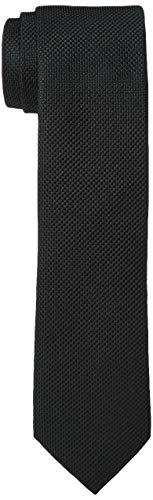 JACK & JONES Herren JACCOLOMBIA TIE NOOS Krawatte, Schwarz (Black Detail:Solid), One size