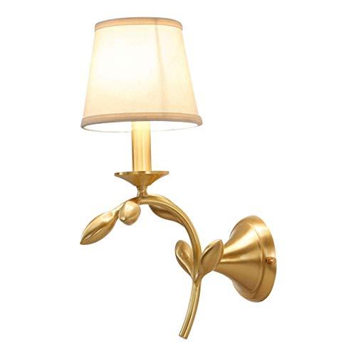 Wandstaal Probleemloze installatie linnen bedlampje puur geweven klassieke creatieve lampen solide sterkte koper + doek wandverlichting