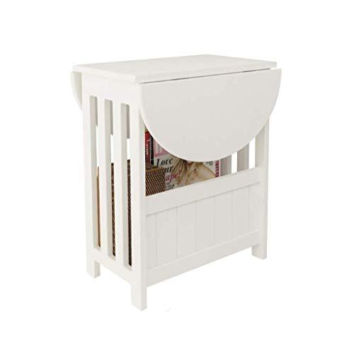 Hopfällbart Bord Trädgårdsbord Matbord Mini Kreativt Litet Runt Bord Vridbart Vardagsrum Sovrumssängbord