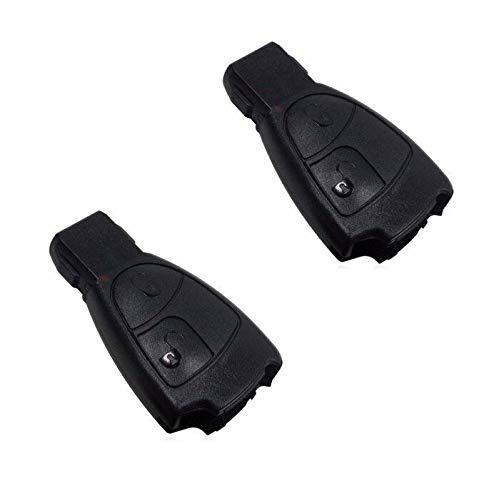 2x Mercedes Benz Schlüssel Gehäuse Fernbedienung Infrarot 2 Tasten KS09F W169 W245 W203 W204 C204 CL203 S203 S204 C208 C209 A208 A209 W211 C207 S210 w210 S211 W220 W211 R230 R171 Sprinter 906 W639