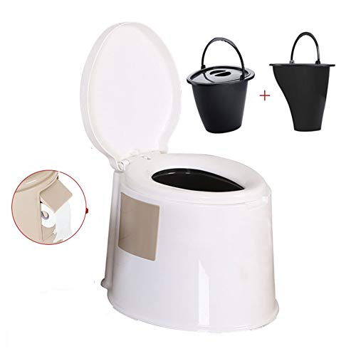 Thole Portátil Químico Baño WC con Tapa para Camping Viaje Ancianos Caravana...