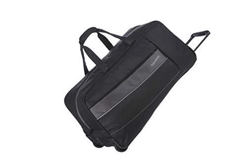 travelite Weichgepäck Reisetasche mit Rollen, Gepäck Serie KITE: Extrem leichte Trolley Reisetasche im sportlichen Design, 089901-01, 64 cm, 68 Liter, schwarz