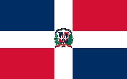 Dominican republic Flag 3ft x 2ft Medium - 100% Polyester - Metal Eyelets - Double Stitched by Perfectflags