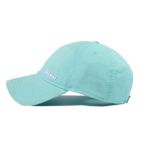 sdssup Cappello da Baseball da Donna Cappello da Viaggio Maschile Moda Marea Cappello Estivo Paio Blu Bianco Parola M (56-58cm)
