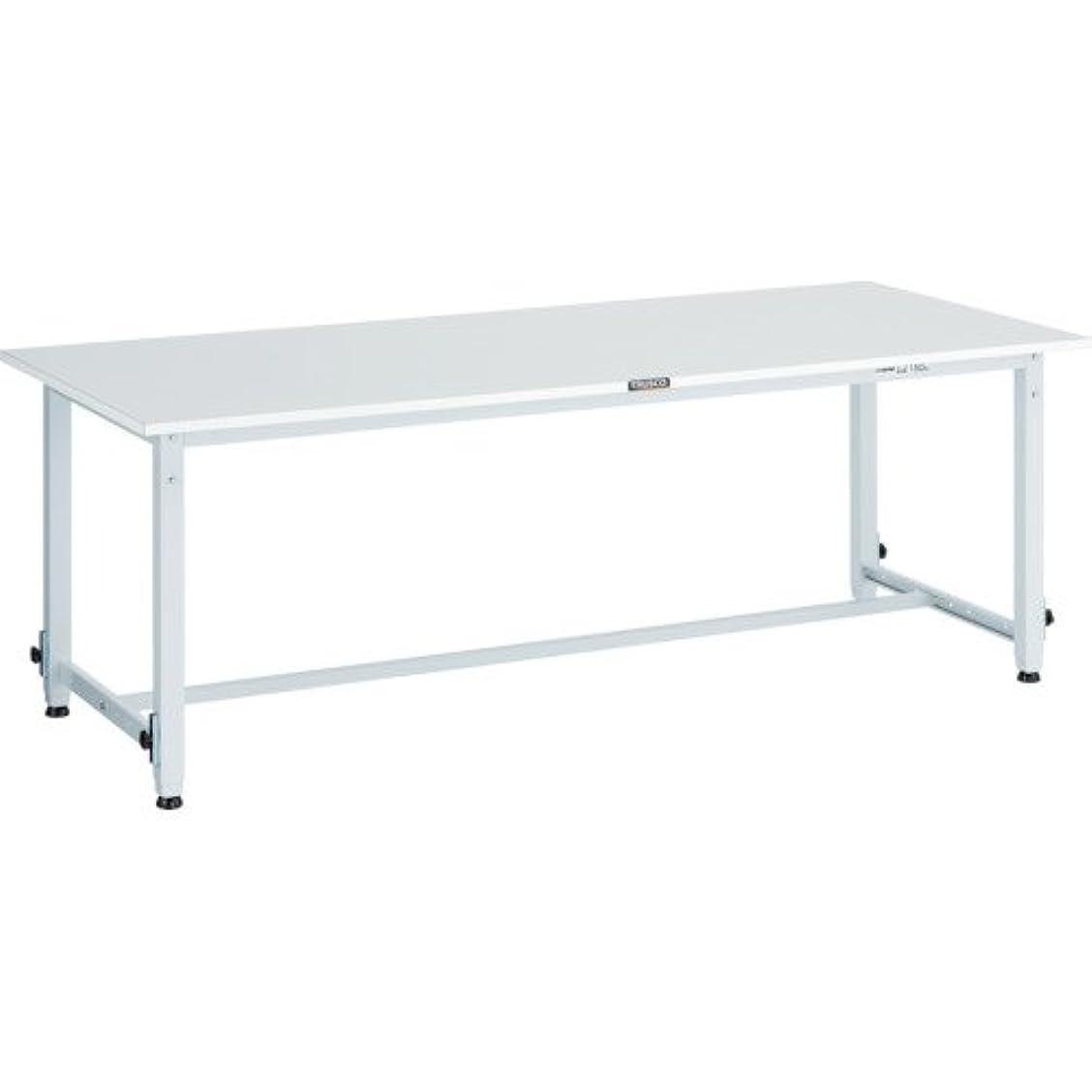 外側有効テーブルを設定するトラスコ中山 TRUSCO RAEM型高さ調節作業台 1500X900 W色