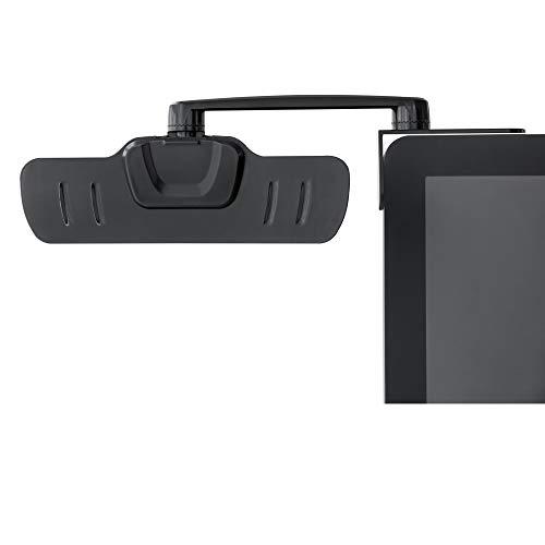 ZOLDA Dokumentenhalter für Monitor - Computer Bildschirm Papier Ständer. Papierhalter für besseres Tippen. 18 Blatt Kapazität, um 360 Grad drehbar, 3M Aufkleber (Schwarz)