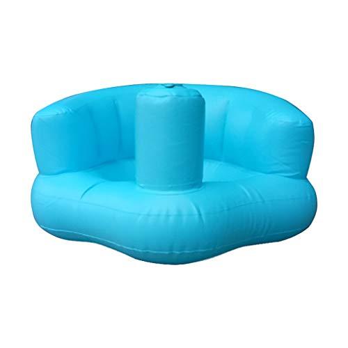 Silla de baño para bebé Asiento Inflable Baño de bebé Taburete de Juguete para niños Portátil Aprendizaje del taburete Sofá de asiento de entrenamiento