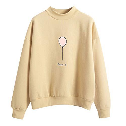 Dtuta Sweatshirt Damen,Rundhalsausschnitt Sweatshirt Pullover Sweater Fleece-Innenseite,Loose Langarm Shirt Sweater Sweatpullover Strickpullover