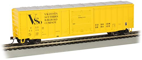 Bachmann Trains - 50' Outside Braced Box Car with Flashing End of Train Device - Valdosta Southern #6006 - HO Scale, 14909