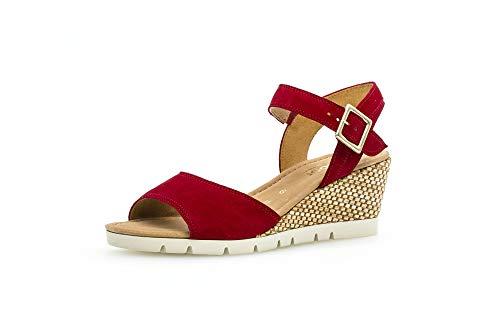 Gabor Karen - Sandalias de plataforma para mujer, color Rojo, talla 39 EU