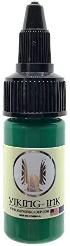 VIKING INK - Tattoo Ink - DRAGON GREEN 0.5oz (15ml) - The best colors and blacks - Vegan