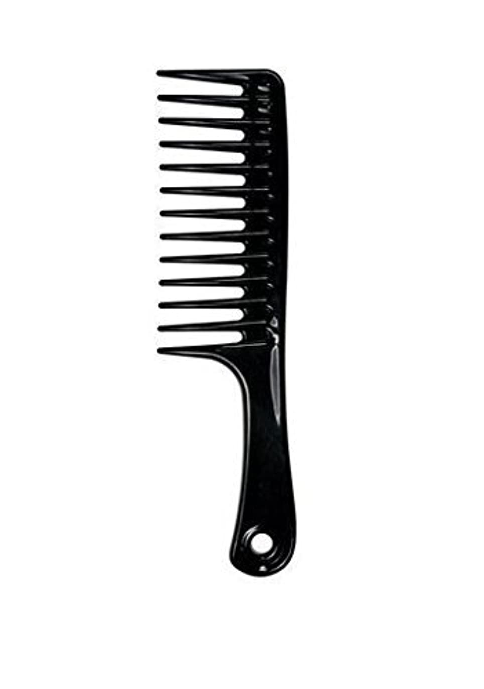 基礎耐えられるレイアウトLarge Tooth Detangle Comb Shampoo Wide Teeth Comb Hair Salon Shampoo Comb Unbreakable 9 1/2